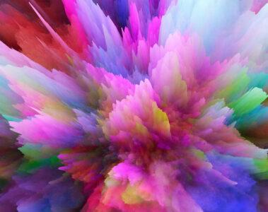 Farbexplosion für Orgasmus, Sex, Partnerschaft,
